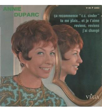 """Annie Duparc - Ca Recommence """"C.C. Cinder"""" (7"""", EP) mesvinyles.fr"""