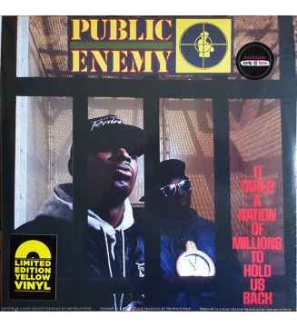 Public Enemy - It Takes A Nation Of Millions To Hold Us Back (LP, Album, Ltd, RE, Yel)