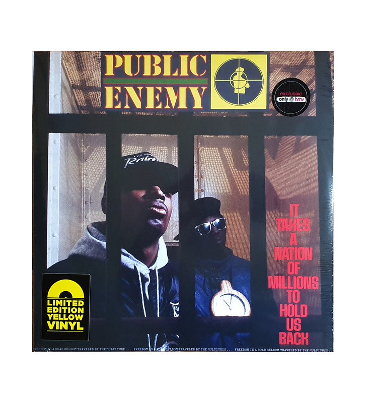 Public Enemy - It Takes A Nation Of Millions To Hold Us Back (LP, Album, Ltd, RE, Yel) mesvinyles.fr