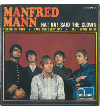 """Manfred Mann - Ha ! Ha ! Said The Clown (7"""", EP) mesvinyles.fr"""