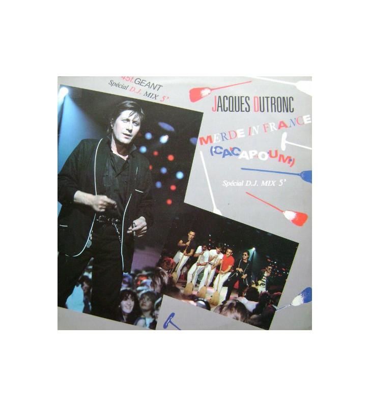 """Jacques Dutronc - Merde In France (Cacapoum) - Spécial D.J. Mix 5' (12"""", Maxi) mesvinyles.fr"""