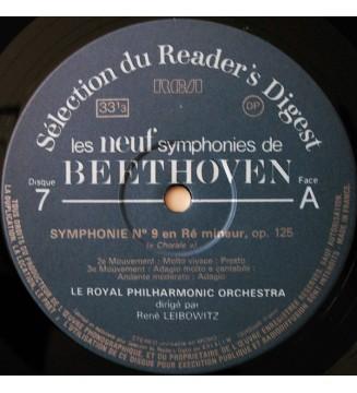 Beethoven* Par The Royal Philharmonic Orchestra Sous La Direction De René Leibowitz - Les Neuf Symphonies De Beethoven (7xLP, C