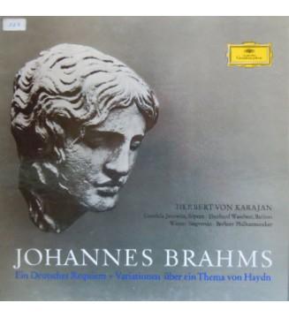 Johannes Brahms - Gundula Janowitz, Eberhard Waechter*, Wiener Singverein, Berliner Philharmoniker, Herbert von Karajan - Ein D
