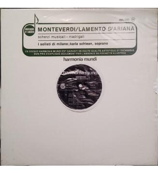 Monteverdi* - I Solisti Di Milano, Karla Schlean - Lamento D'Ariana - Scherzi Musicali - Madrigali (LP, Album) mesvinyles.fr