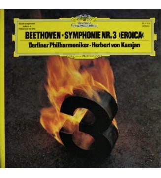 Beethoven* - Berliner Philharmoniker, Herbert von Karajan - Symphonie Nr. 3 'Eroica' (LP) mesvinyles.fr