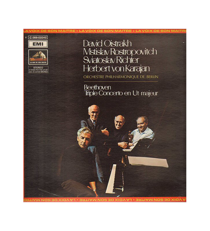 Beethoven* - David Oistrakh*, Mstislav Rostropovitch*, Sviatoslav Richter, Herbert von Karajan, Orchestre Philharmonique De Ber