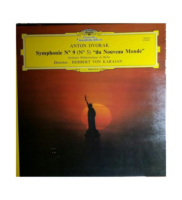 """Anton Dvorak*, Herbert von Karajan, Orchestre Philharmonique De Berlin* - Symphonie N° 9 (N°5)  """"Du Nouveau Monde"""" (LP, RE, Gat"""