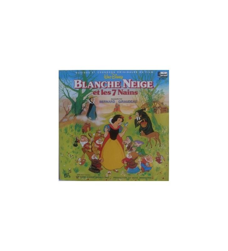 Walt Disney - Blanche Neige Et Les 7 Nains Raconté Par Bernard Giraudeau (LP) mesvinyles.fr
