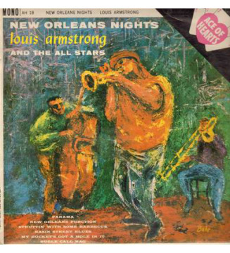 Louis Armstrong And The All Stars* - New Orleans Nights (LP, Album, Mono) mesvinyles.fr