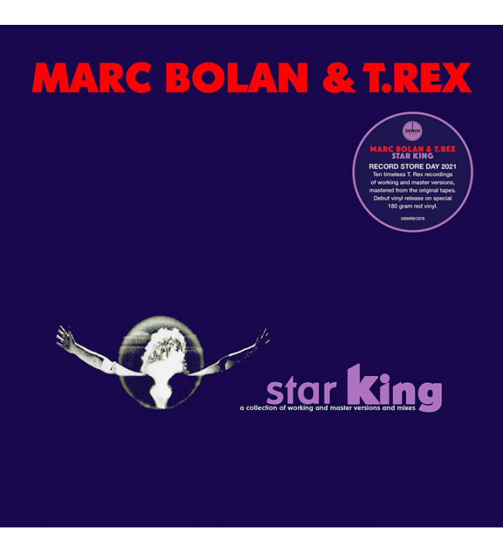 "MARC BOLAN & T.REX""STAR KING  (VINYLE ROUGE)"" rsd 2021 mesvinyles.fr"