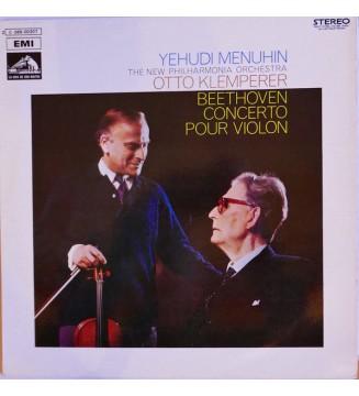 Yehudi Menuhin, Otto Klemperer, Beethoven*, The New Philharmonia Orchestra* - Violin Concerto (LP) mesvinyles.fr