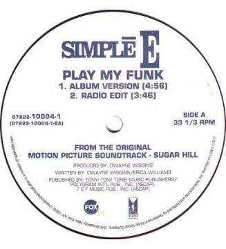 "Simplē E* - Play My Funk (12"") mesvinyles.fr"