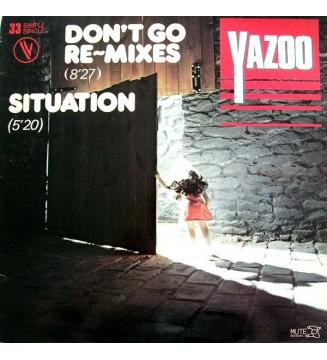 "Yazoo - Don't Go (Re-mixes) / Situation (12"", Single, Ltd) mesvinyles.fr"