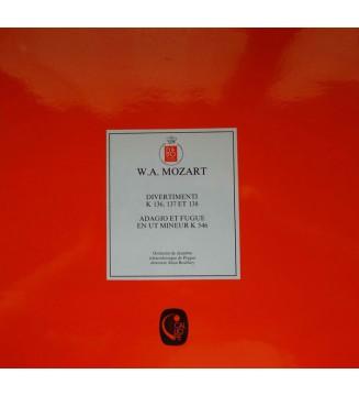 W.A. Mozart*, Orchestre De Chambre Tchécoslovaque De Prague* Direction Alain Boulfroy - Divertimenti K 136, 137 Et 138 / Adagio