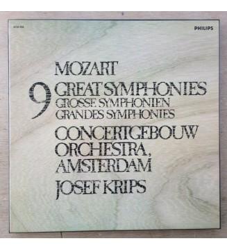 Mozart* - Concertgebouw Orchestra, Amsterdam*, Josef Krips - 9 Great Symphonies  Grosse Symphonien  Grandes Symphonies (5xLP, me