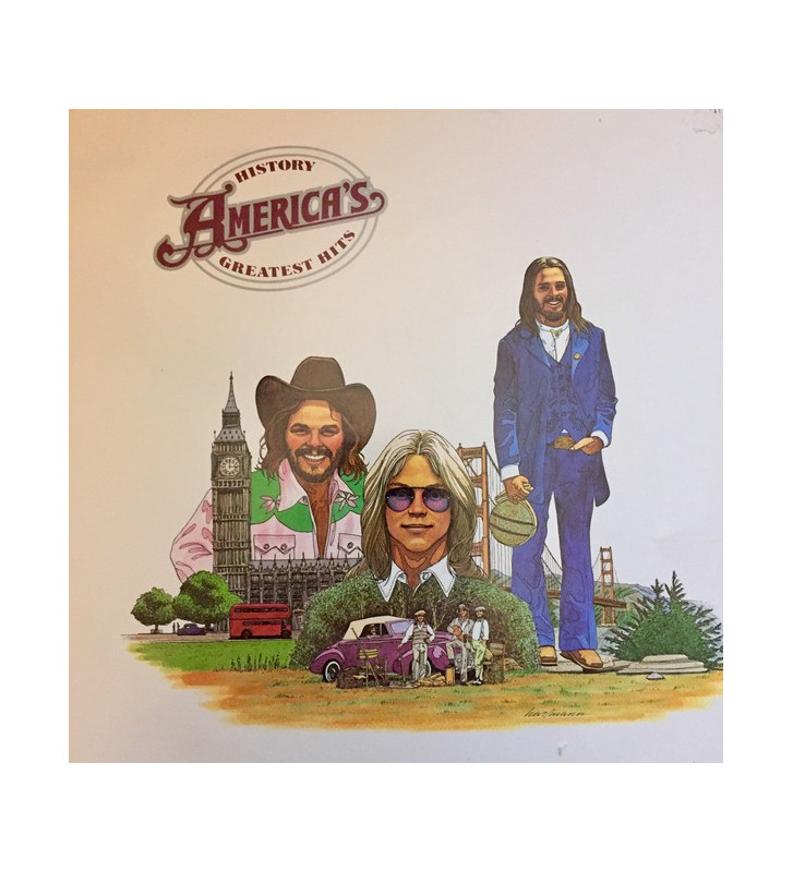 America (2) - History - America's Greatest Hits (LP, Comp, RE) mesvinyles.fr