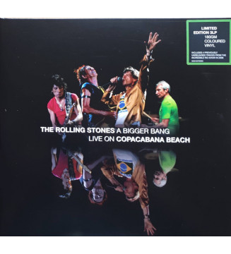 The Rolling Stones - A Bigger Bang Live On Copacabana Beach (LP, Ltd, RM, Gre + LP, Ltd, RM, Yel + LP, Ltd, RM,) mesvinyles.fr
