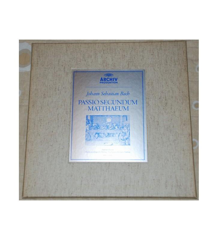 Johann Sebastian Bach / Karl Richter - Passio Secundum Matthæum (Matthäus-Passion) (4xLP, RE + Box) mesvinyles.fr