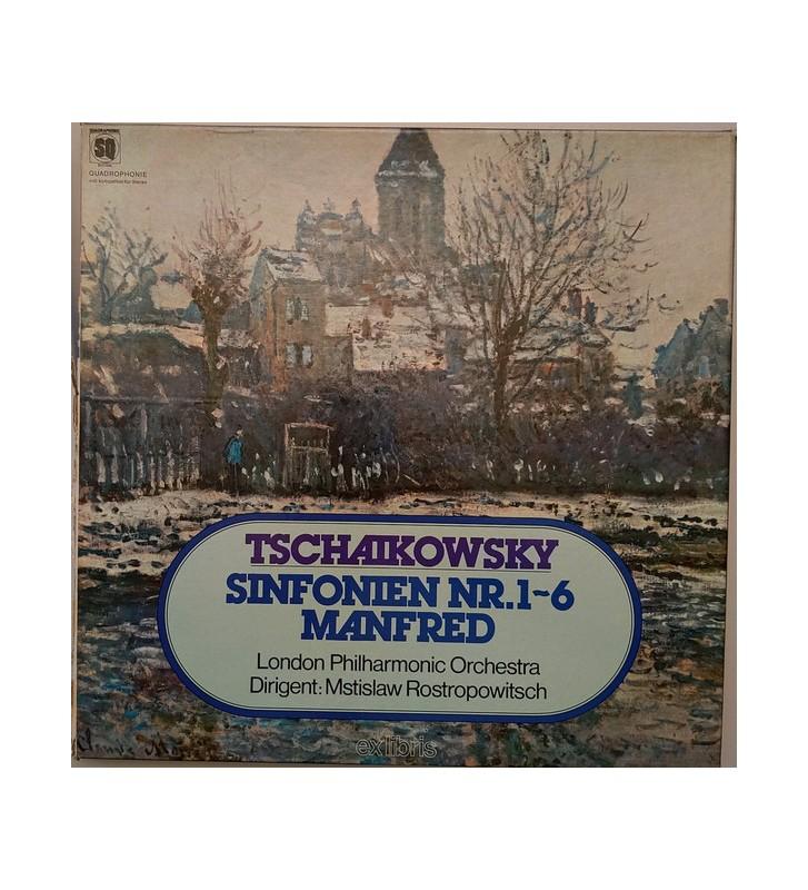 Tschaikowsky*, London Philharmonic Orchestra*, Mstislaw Rostropowitsch* - Sämtliche Sinfonien Nr. 1 - 6 (7xLP, Quad + Box) mesvi