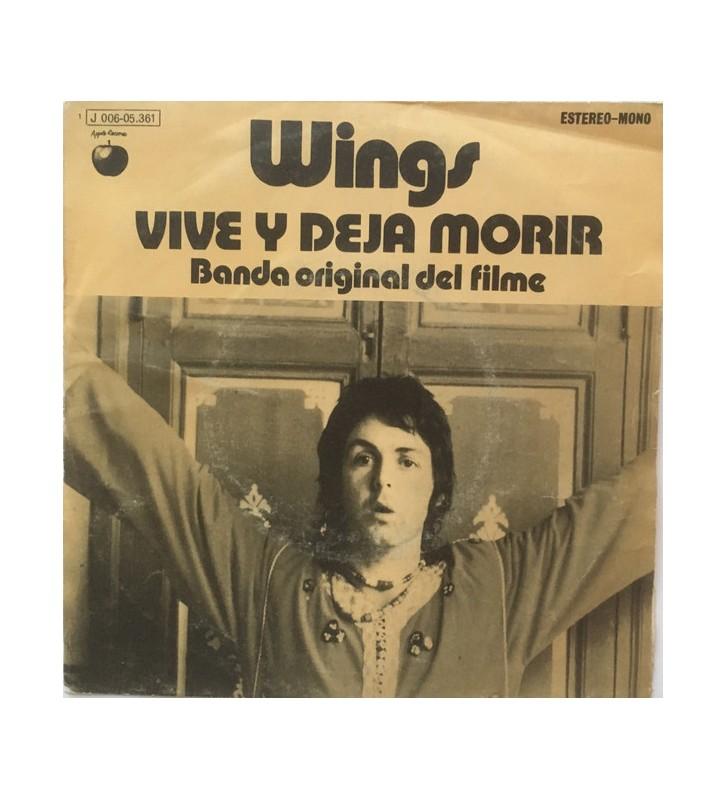 "Wings (2) - Vive Y Deja Morir (Banda Original Del Filme) (7"", Single) mesvinyles.fr"