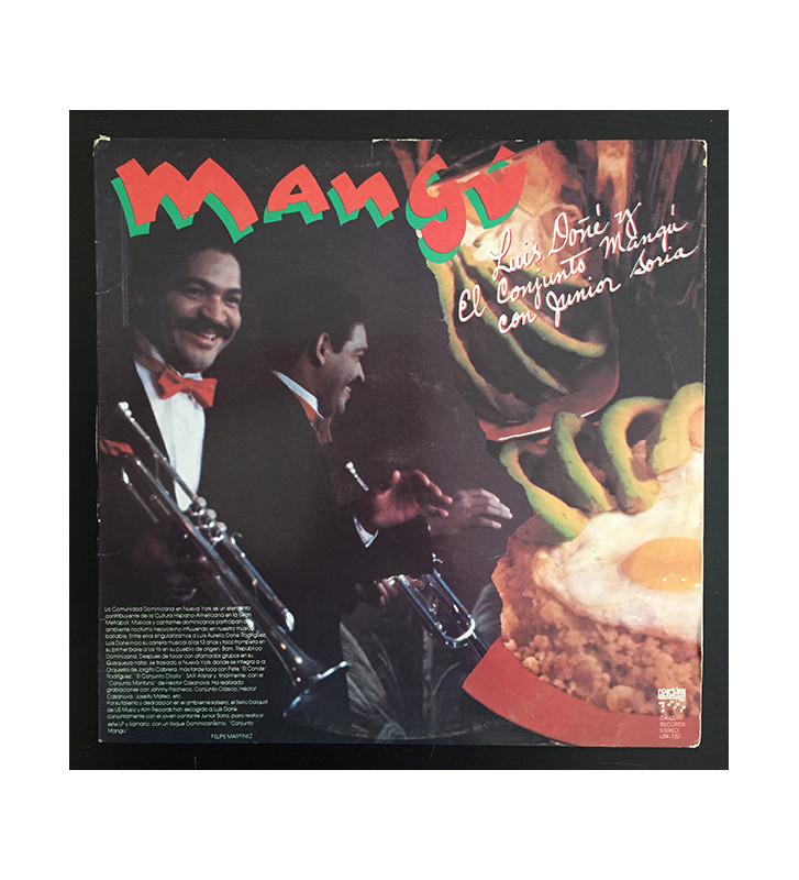 Luis Doñe Y El Conjunto Mangú* Con Junior Soria - Mangú (LP, Album) mesvinyles.fr