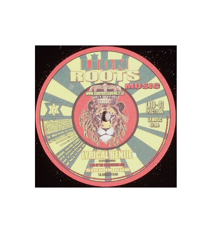 """Lyrical Benjie / Kenny Knots - Sign Of The Conquering Lion / Babylon City (10"""") mesvinyles.fr"""