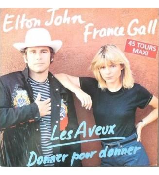 """Elton John & France Gall - Les Aveux (12"""", Maxi) mesvinyles.fr"""