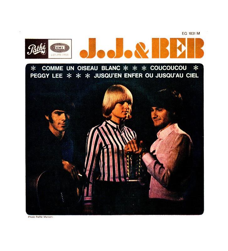 """J. J. & Beb - Comme Un Oiseau Blanc / Coucoucou / Peggy Lee / Jusqu'en Enfer Ou Jusqu'au Ciel (7"""", EP) mesvinyles.fr"""