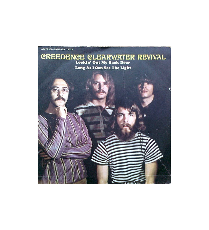 """Creedence Clearwater Revival - Lookin' Out My Backdoor / Long As I Can See The Light (7"""", Single) mesvinyles.fr"""