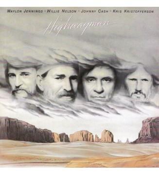 Waylon Jennings • Willie Nelson • Johnny Cash • Kris Kristofferson - Highwayman (LP, Album, Car) vinyle mesvinyles.fr