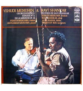 Yehudi Menuhin & Ravi Shankar, Hephzibah Menuhin, Alla Rakha, Prodyot Sen, Georges Enesco* -  Sonate N°3, En La Mineur Op.25 /