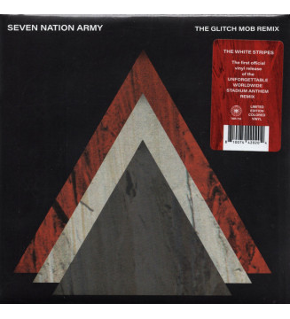 """The White Stripes, The Glitch Mob - Seven Nation Army (The Glitch Mob Remix) (7"""", S/Sided, Single, Etch, Ltd, Red) new vinyle me"""