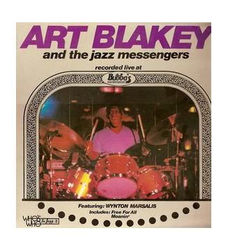 Art Blakey And The Jazz Messengers* Featuring Wynton Marsalis - Live At Bubba's Jazz Restaurant (LP, Album) vinyle mesvinyles.fr