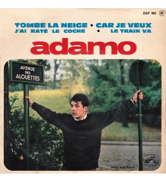 """Adamo - Tombe La Neige / Car Je Veux / J'ai Raté Le Coche / Le Train Va (7"""", EP) mesvinyles.fr"""