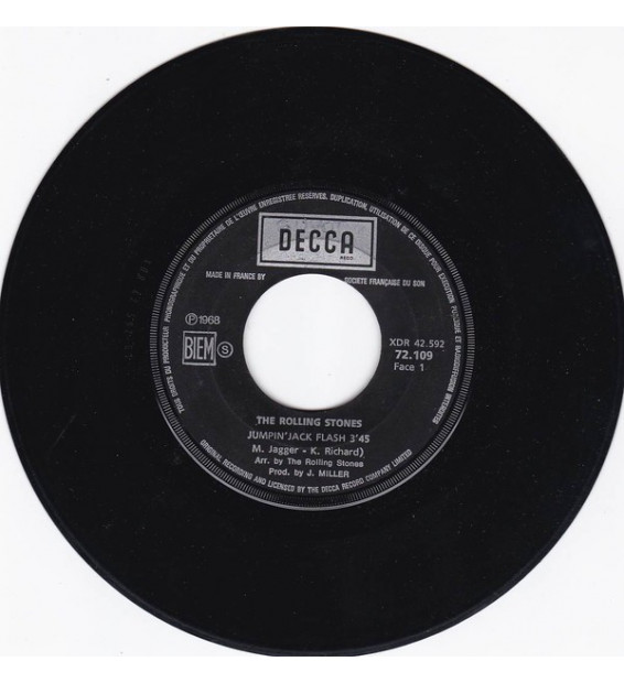 "The Rolling Stones - Jumpin' Jack Flash / Child Of The Moon (7"", Single, Juk) mesvinyles.fr"