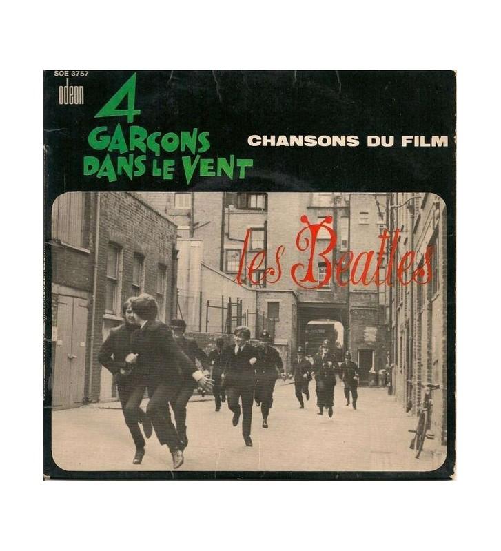 """Les Beatles* - Chansons Du Film """"4 Garçons Dans Le Vent"""" (7"""", EP, 2nd) mesvinyles.fr"""