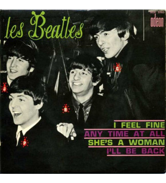 "Les Beatles* - I Feel Fine (7"", EP)"