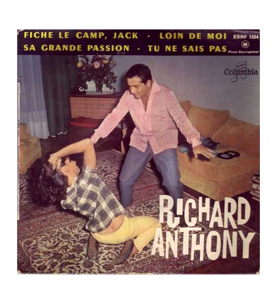 "Richard Anthony (2) - Fiche Le Camp, Jack (7"", EP, Mono) mesvinyles.fr"