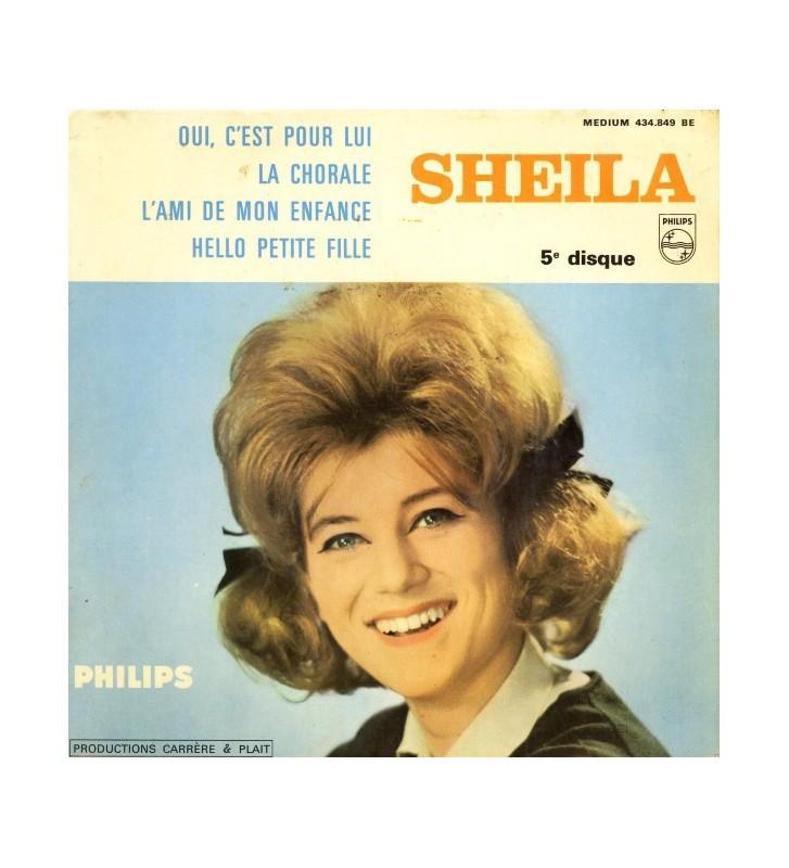 """Sheila (5) - Oui, C'est Pour Lui (7"""", EP, Mono) mesvinyles.fr"""