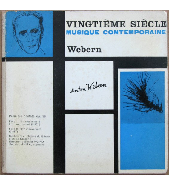 "Anton Webern - Première Cantate Op. 29 (7"", EP, Gat) mesvinyles.fr"