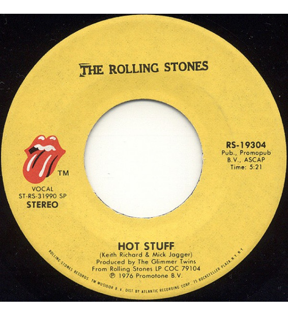 "The Rolling Stones - Hot Stuff / Fool To Cry (7"", Single) mesvinyles.fr"