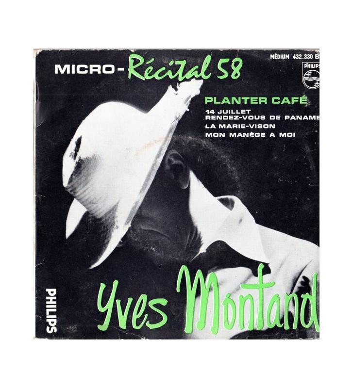 "Yves Montand - Micro - Récital 58 (N°4) (7"", EP) mesvinyles.fr"