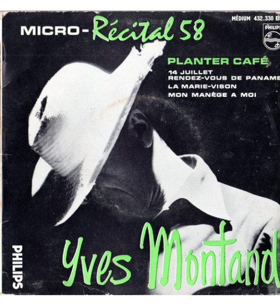 """Yves Montand - Micro - Récital 58 (N°4) (7"""", EP)"""
