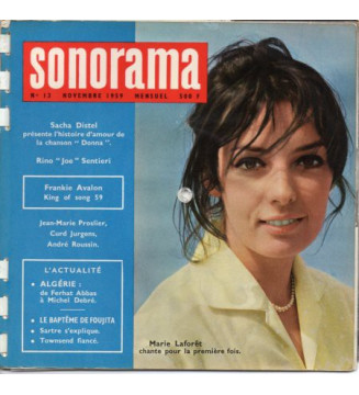 "Various - Sonorama N°13 - Novembre 1959 (6xFlexi, 7"", S/Sided, Whi) mesvinyles.fr"