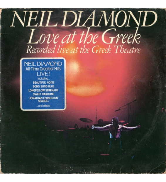 Neil Diamond - Love At The Greek - Recorded Live At The Greek Theatre (2xLP, Album, Gat) mesvinyles.fr