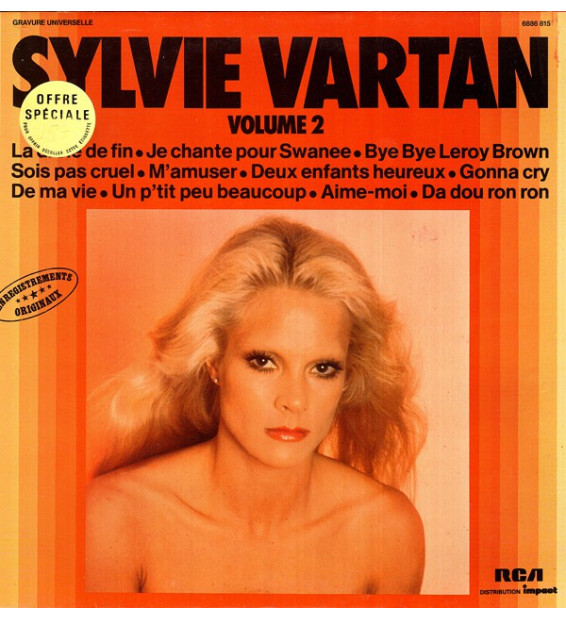Sylvie Vartan - Enregistrements Originaux (Volume 2) (LP, Comp) mesvinyles.fr