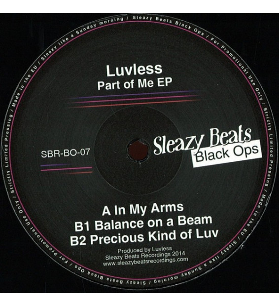 LUVLESS - Part Of Me EP mesvinyles.fr