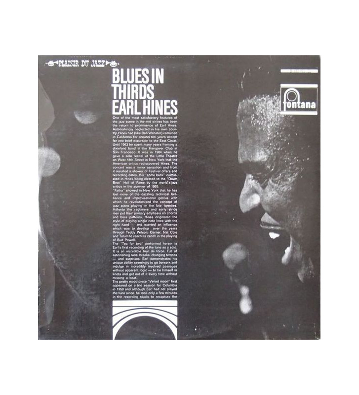 Earl Hines - Blues In Thirds (LP, Album) mesvinyles.fr