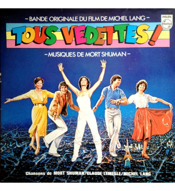 """Mort Shuman, Claude Lemesle, Michel Lang - Bande Originale Du Film """"Tous Vedettes !"""" (LP, Album, Gat) mesvinyles.fr"""