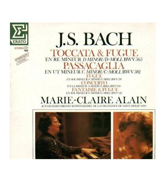 JOHANN SEBASTIAN BACH - MARIE-CLAIRE ALAIN - Toccata & Fugue / Passacaglia / Fugue / Concerto / Fantaisie & Fugue mesvinyles.fr